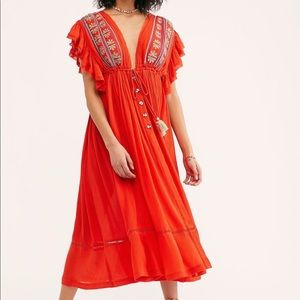 "Free People ""Will Wait For You Midi Dress"""
